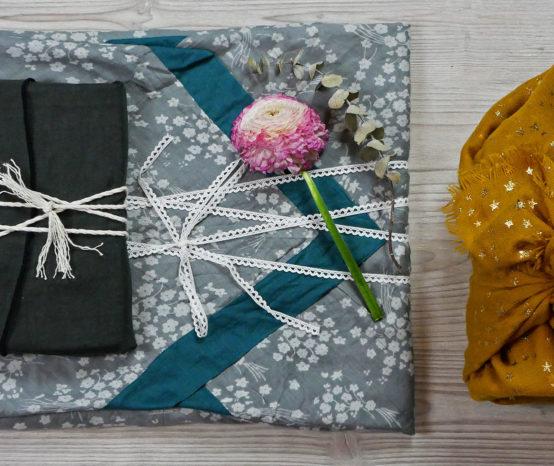 Green DIY de Noël : 3 emballages cadeaux en tissus