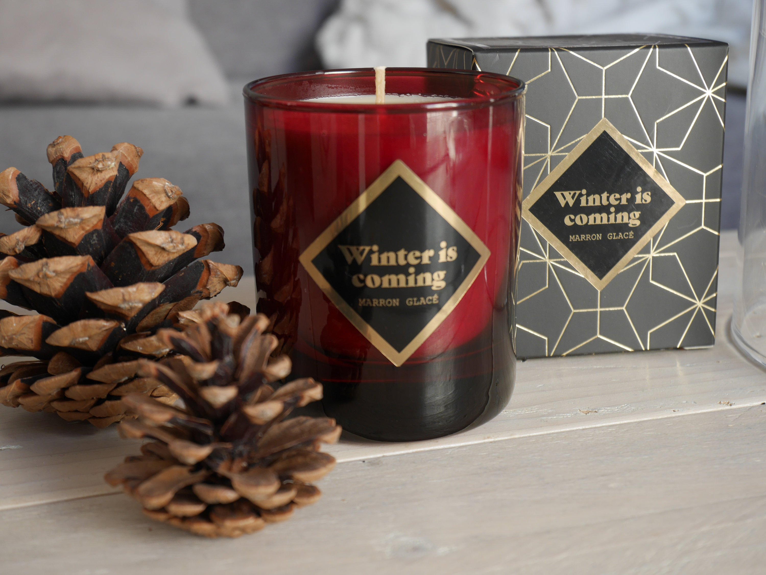 Bougie Winter is coming parfum Marron glacé - LARTOSE