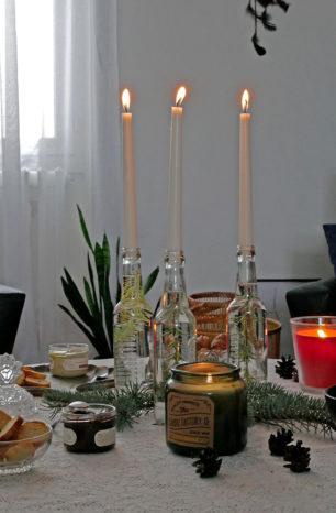 Green Noël au coin du feu : ma déco de table 100% récup