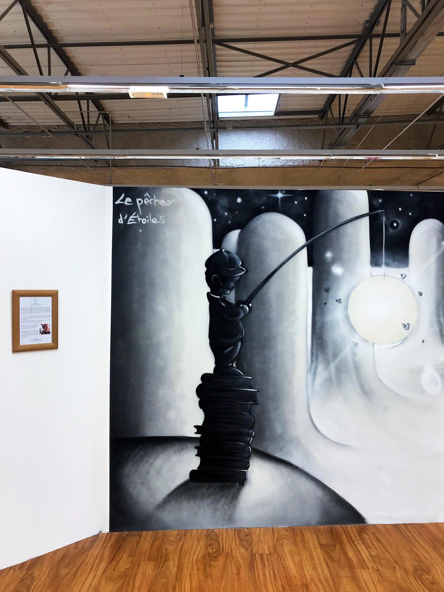 """expo l'art ou on ne l'attend pas, FACE CACHÉE - Fresque """"le pêcheur d'étoiles"""""""