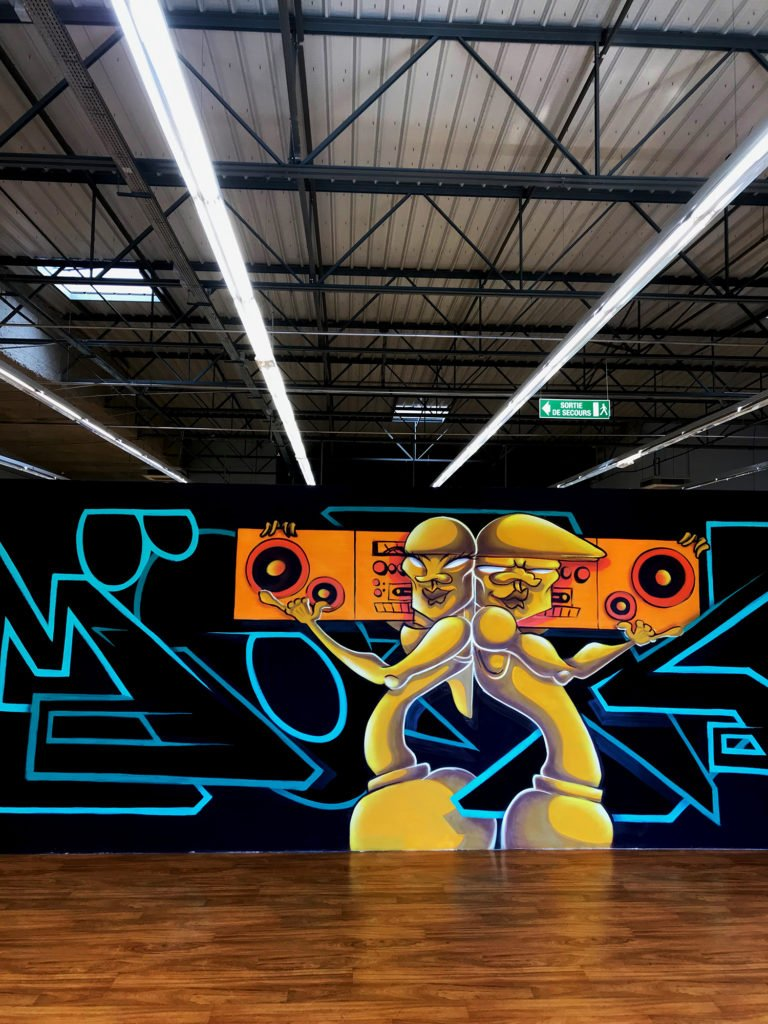 expo l'art ou on ne l'attend pas, MÖKA - Graffiti fresque de 7m x 2,3m