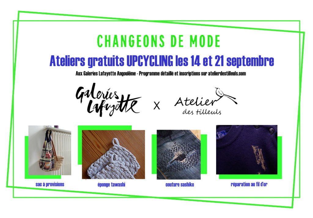 ateliers upcycling avec les Galeries Lafayette
