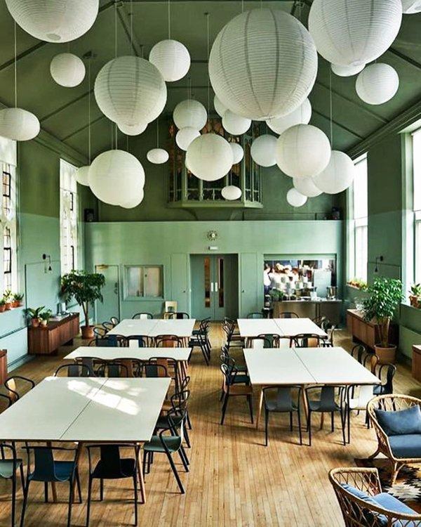 idée de suspensions lanternes boules de papier