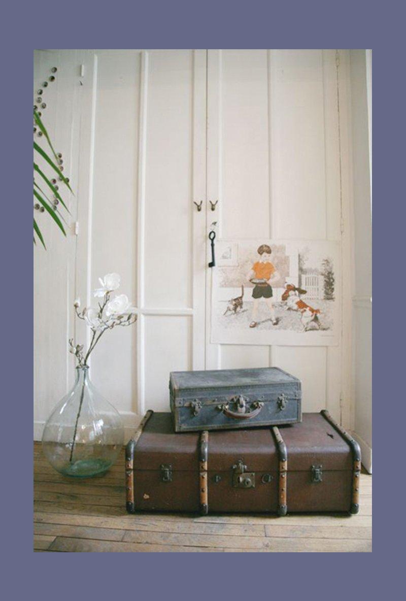 Utiliser une vieille valise comme objet déco