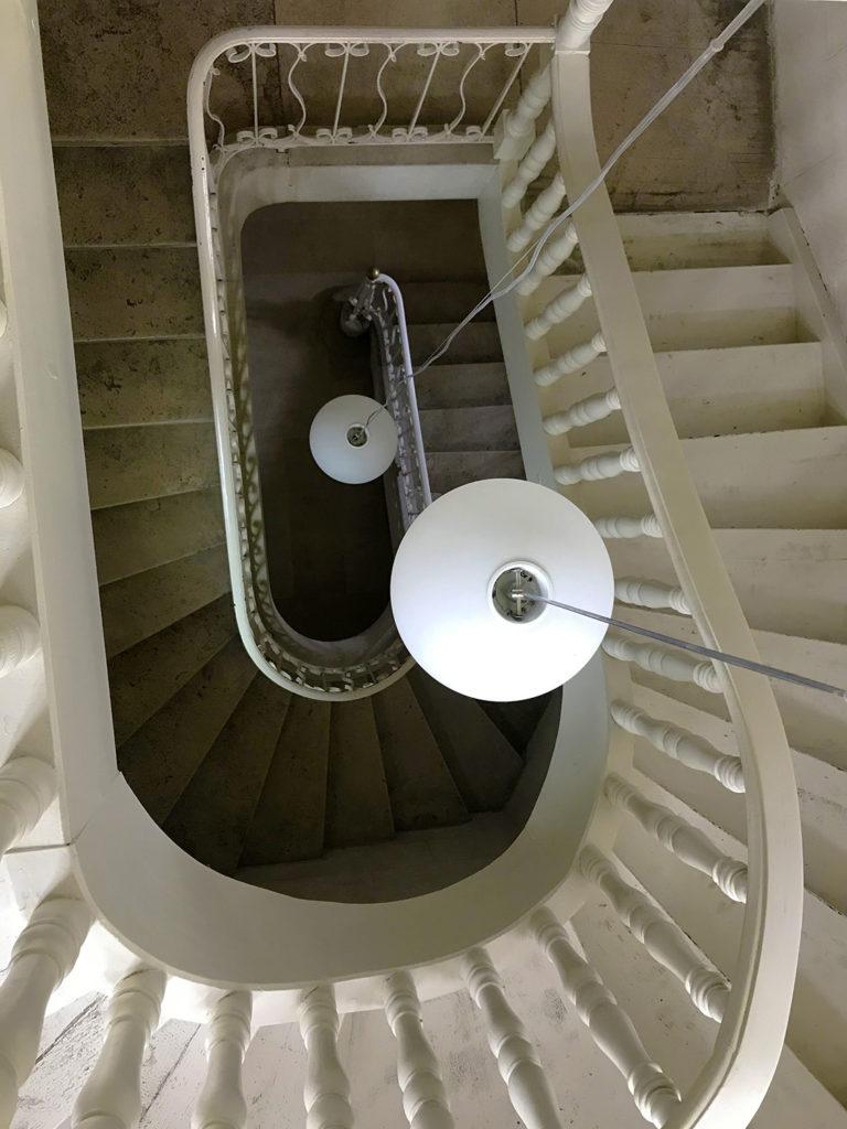 escalier de la maison alsacienne à Angoulême en Charente