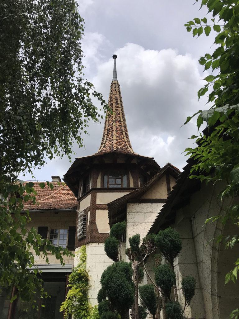 toit de la maison alsacienne à Angoulême en Charente
