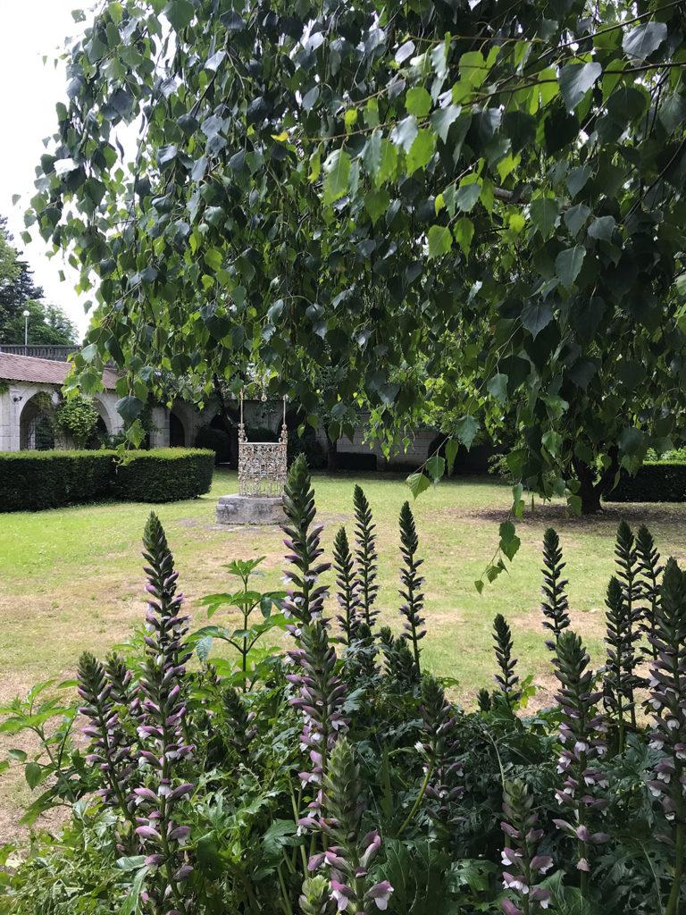 jardin de la maison alsacienne à Angoulême en Charente