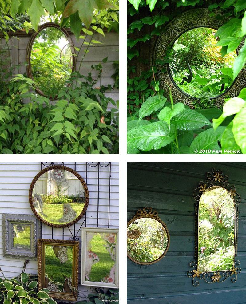 4 idées pour accrocher un miroir exterieur