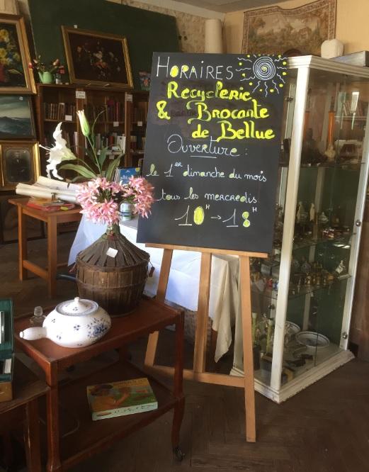 La recyclerie et brocante de Bellue à Baignes-Sainte-Radegonde pour chiner en Charente