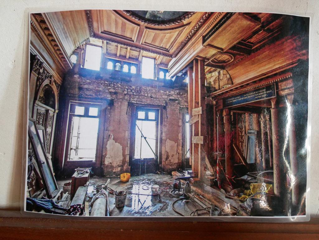 photo des travaux du château de la mercerie en charente