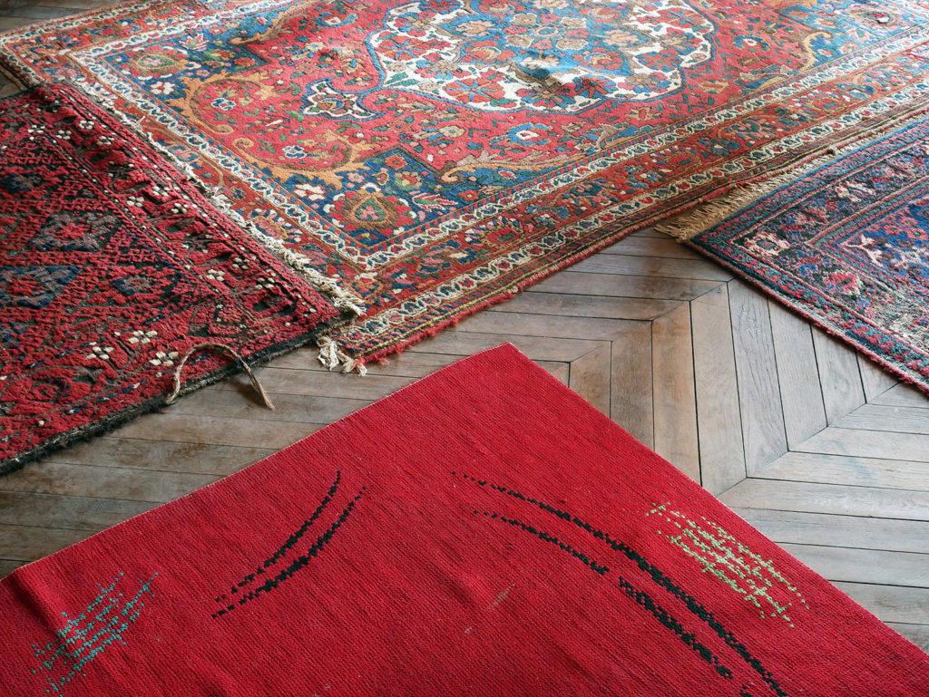 accumulation de tapis du château de la mercerie en charente