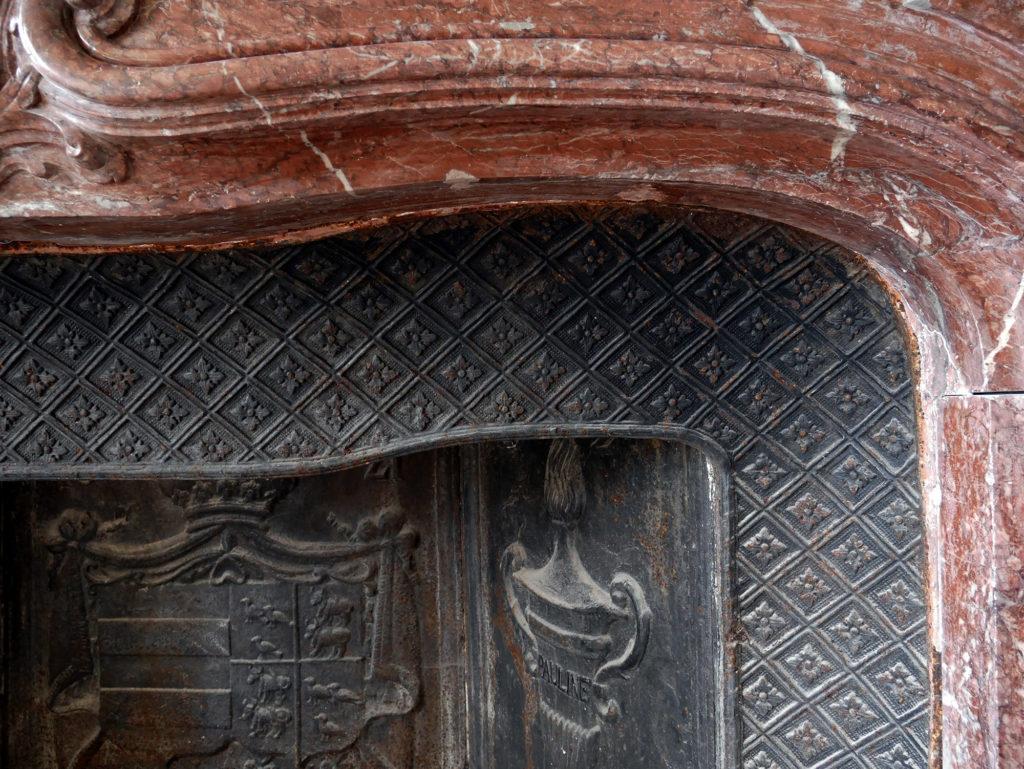 détail de cheminée du château de la mercerie en charente