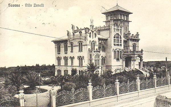 photo ancienne de la la villa Zanetti à Savone en Italie