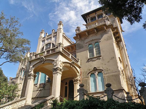 façade de la villa Zanetti à Savone en Italie