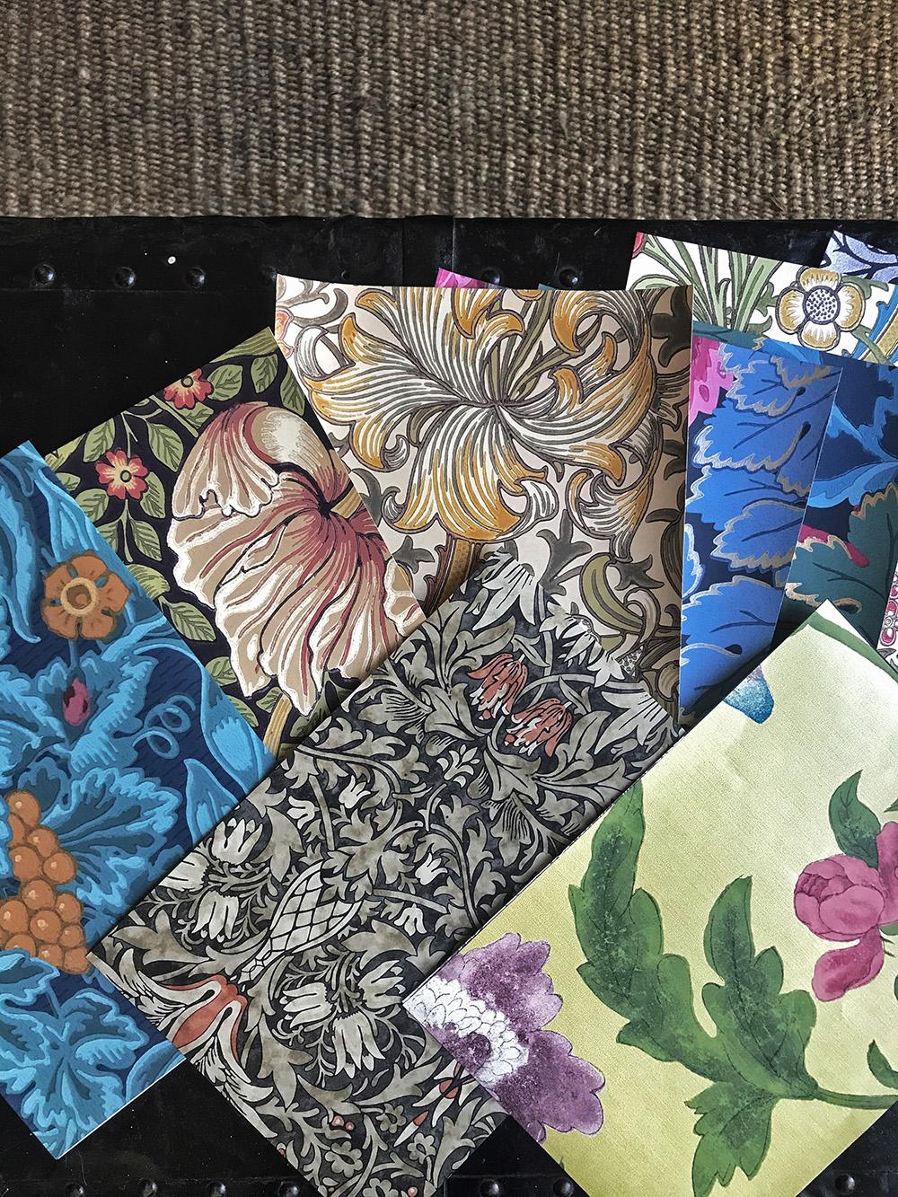 palette d'échantillons de papiers peints